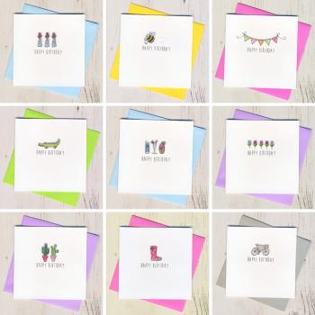 Ten Colourful Birthday Cards