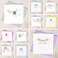 Five Glittery & Five Colourful  Birthday Cards