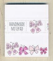 <!-- 008 -->Pink Butterflies Notepad