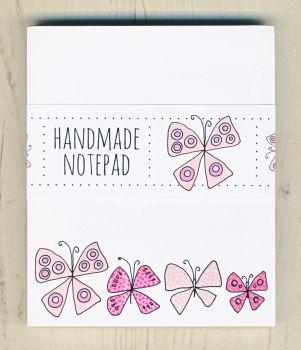 Pink Butterflies Notepad