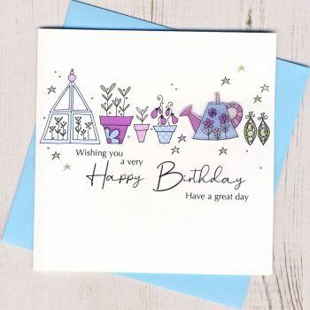 Happy Birthday Gardening Card