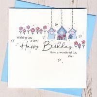 <!-- 002 --> Happy Birthday Birdhouse Card