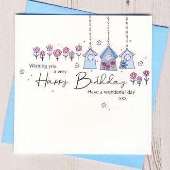 Happy Birthday Birdhouse Card