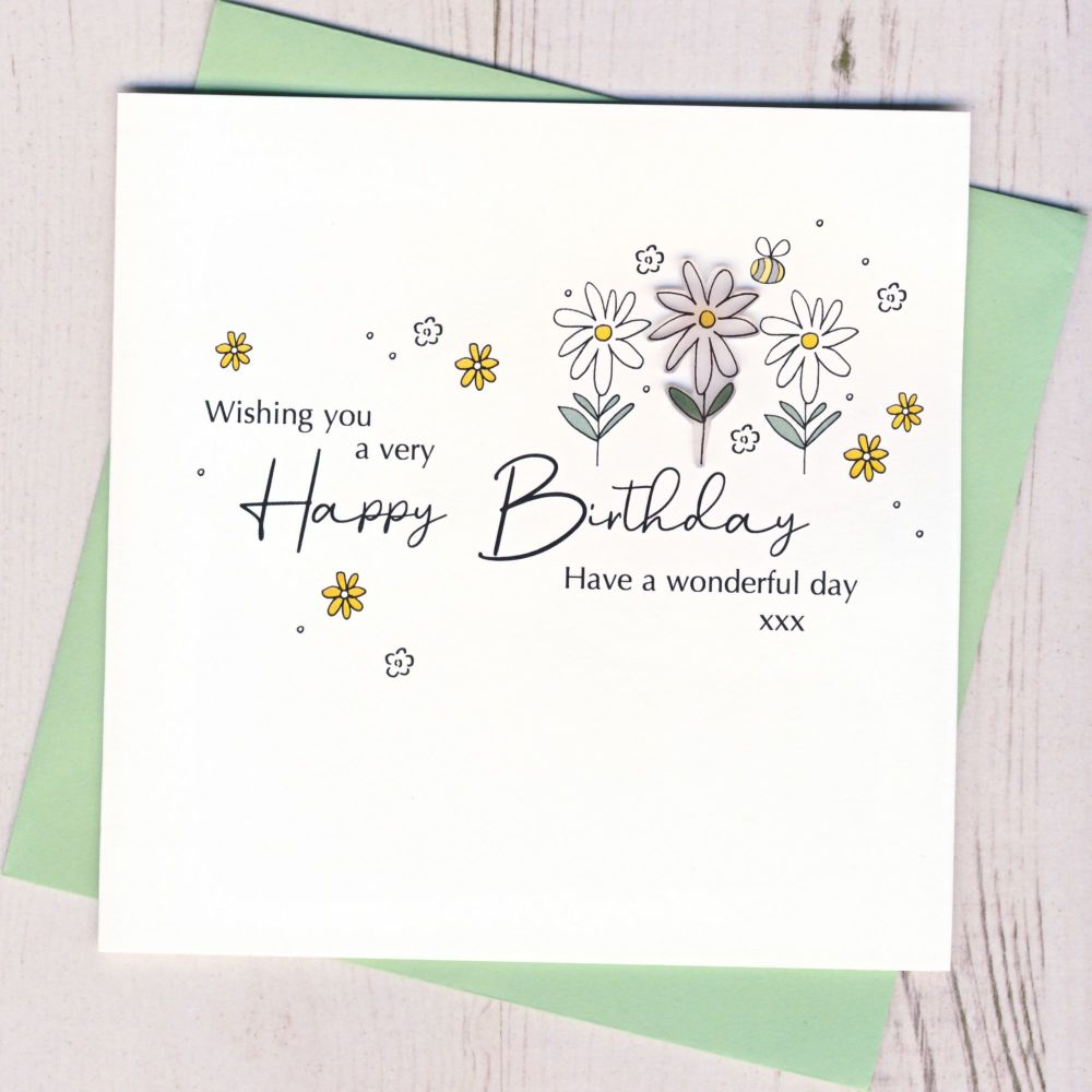 <!-- 001 -->  Happy Birthday Daisy Card