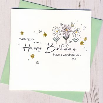 Happy Birthday Daisy Card