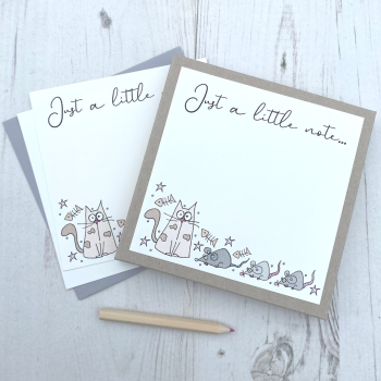 Box of 12 Cat  Notecards
