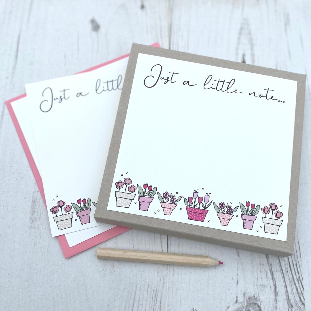 <!-- 003 -->Box of 12 Flowerpots  Notecards