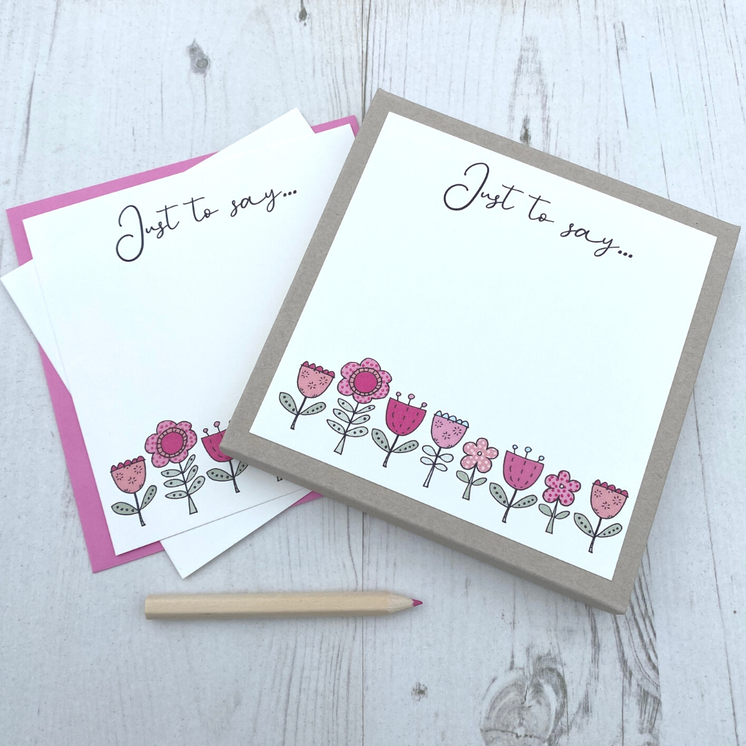 <!-- 005 -->Box of 12 Flower  Notecards