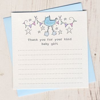 Pack of Baby Gift Thank You Cards