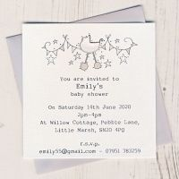 Pack of Baby Shower Invitations
