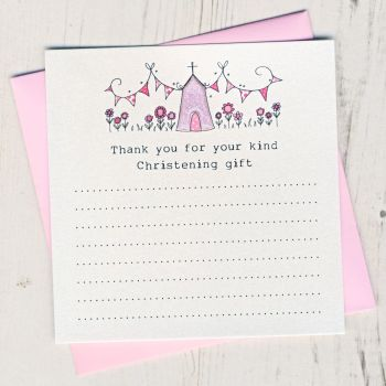 Pack of Girl's Christening Thank You Cards
