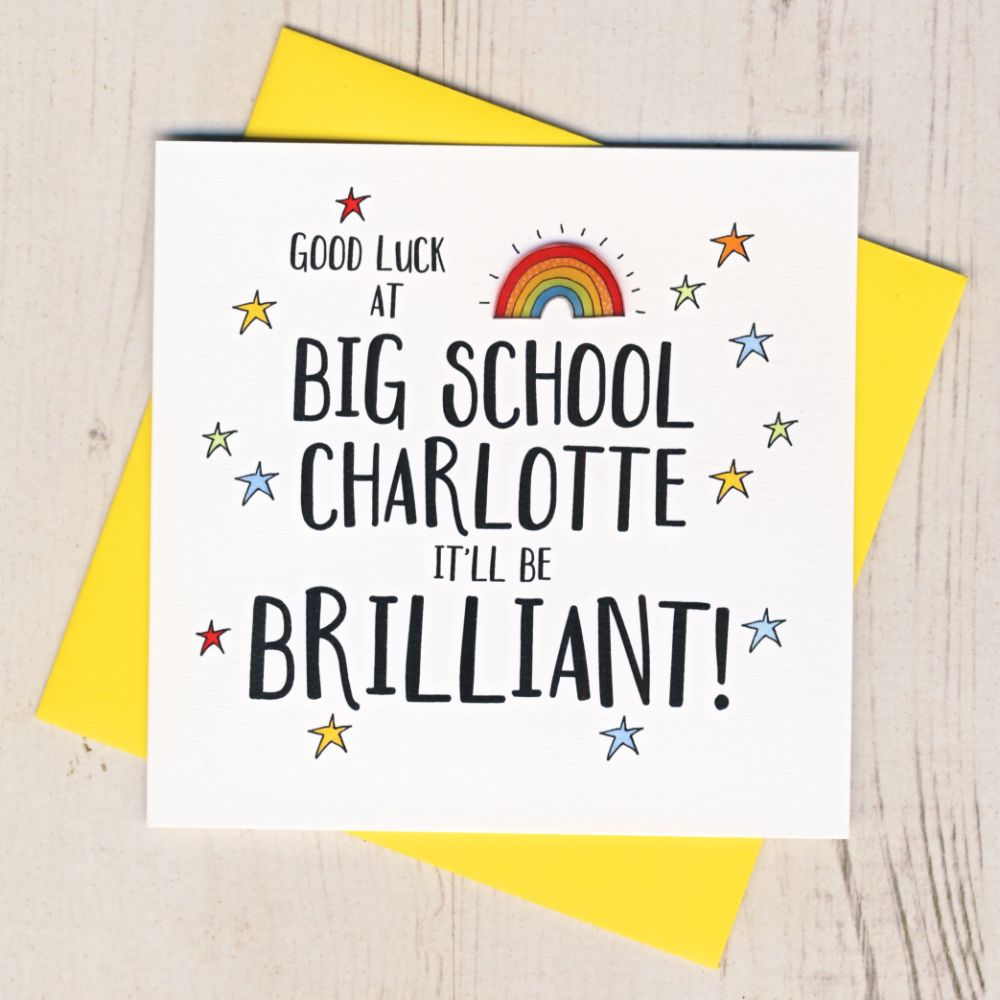 Personalised Good Luck At School Cards