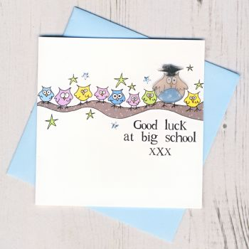Blue Owl Good Luck At Big School Card