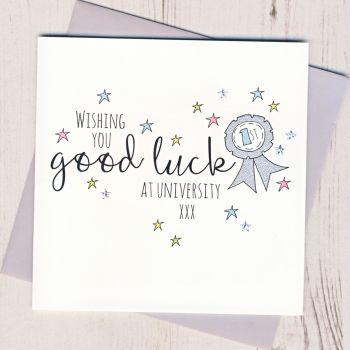 Rosette Good Luck At University Card