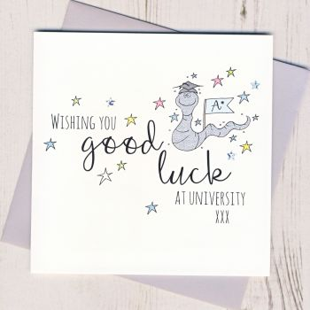 Worm Good Luck At University Card
