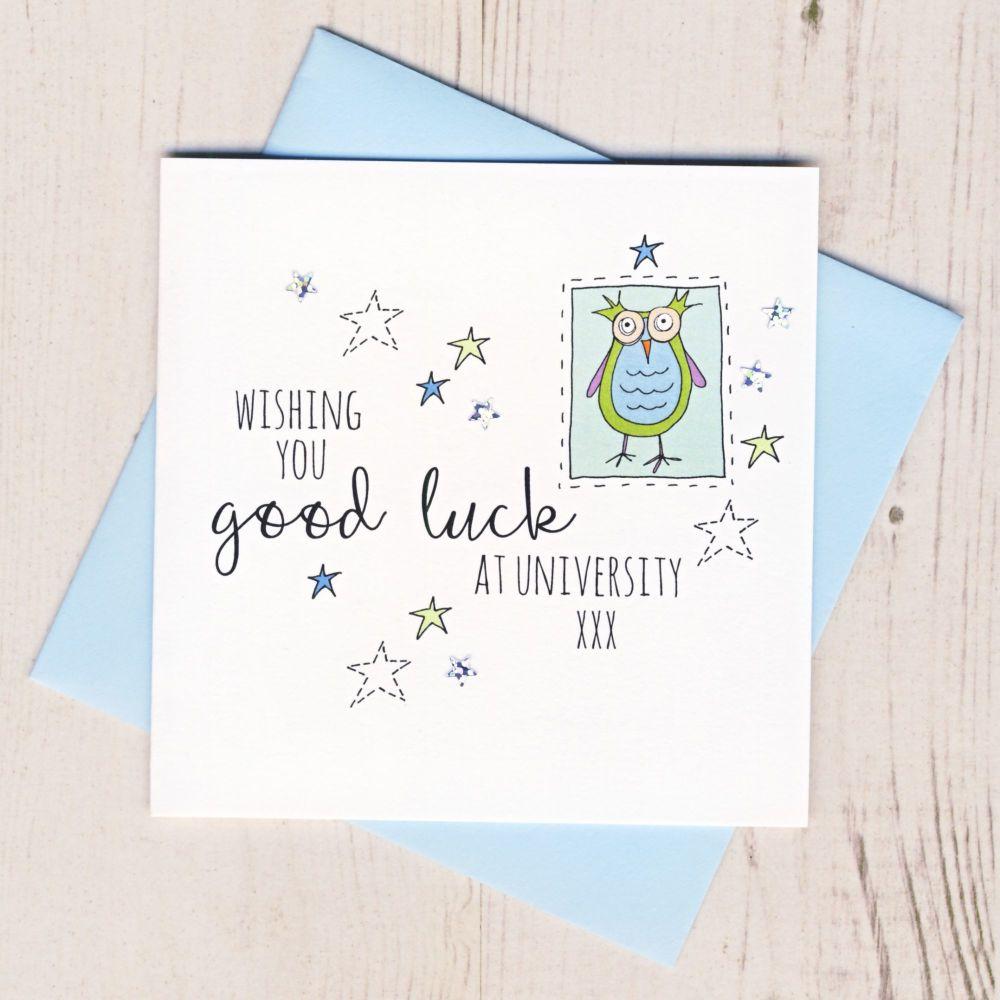 <!-- 002 -->Blue Owl Good Luck At University Card