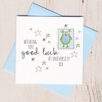 Blue Owl Good Luck At University Card