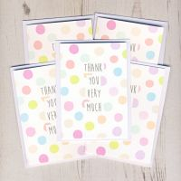 <!-- 002 -->Pack of Mini Spotty Thank You Cards