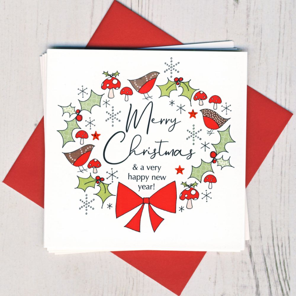 <!-- 001 -->Pack of five Christmas Cards