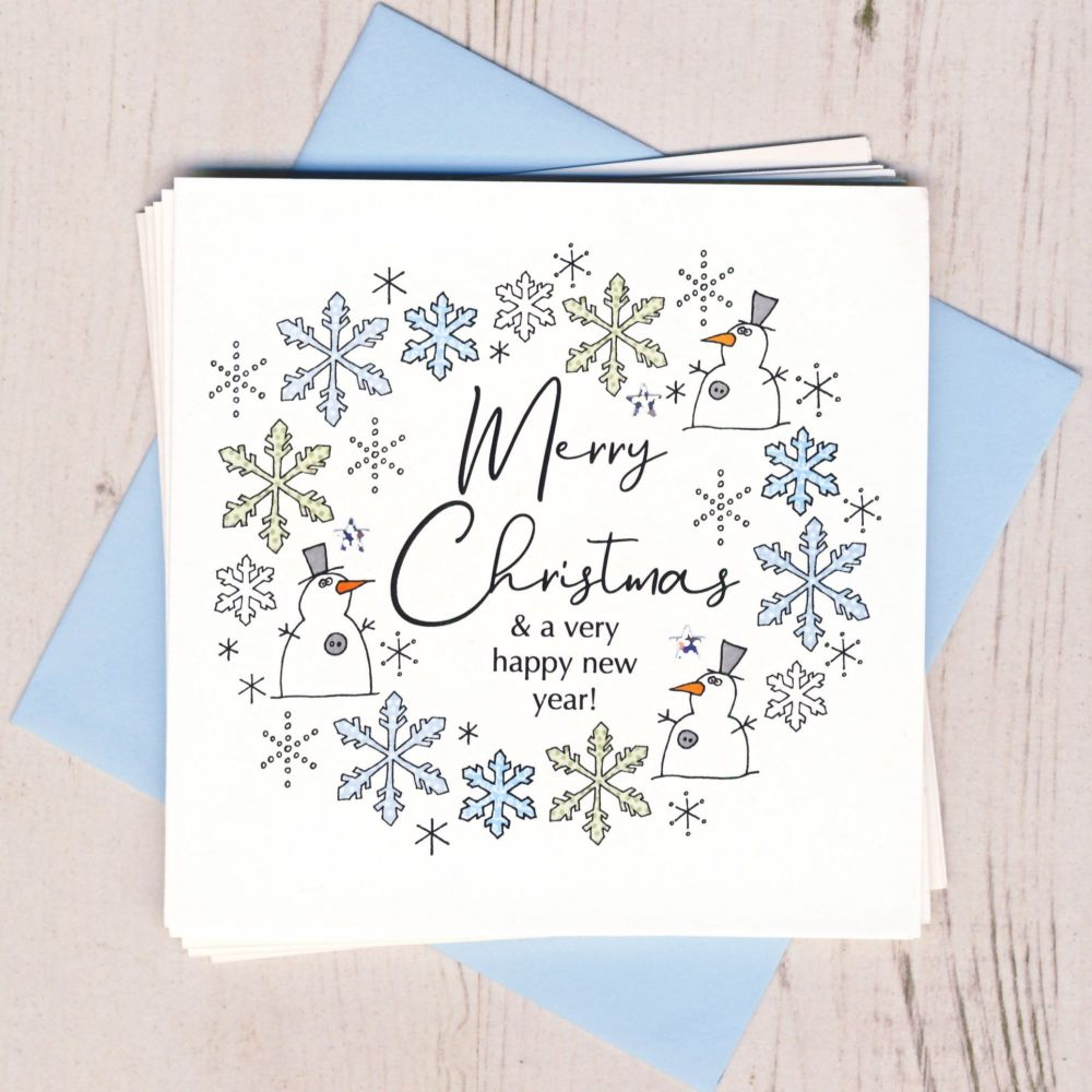 <!-- 002 -->Pack of Five Snowman Cards