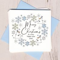 <!-- 002 -->Pack of Five Snowman Christmas Cards