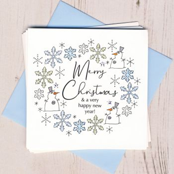 Pack of Five Snowman Christmas Cards