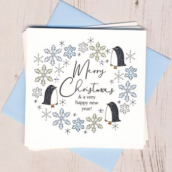 Pack of Five Penguin Christmas Cards