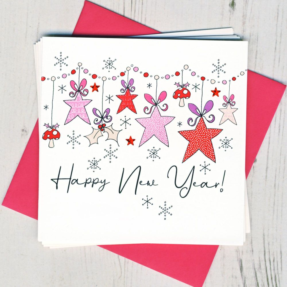 <!-- 001 -->Pack of Five New Year Cards