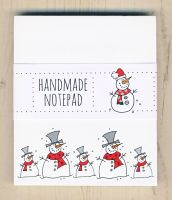 Christmas Snowmen Notepad