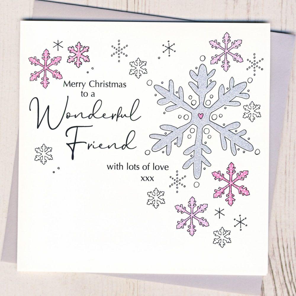 <!-- 001-->Wonderful Friend Christmas Card