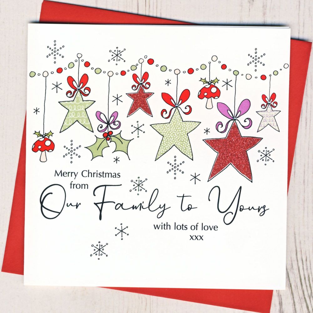 <!-- 001-->From Our Family To Yours Christmas Card