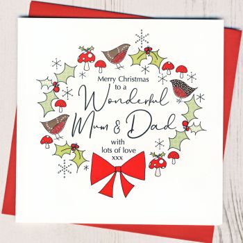 Mum & Dad Christmas Card