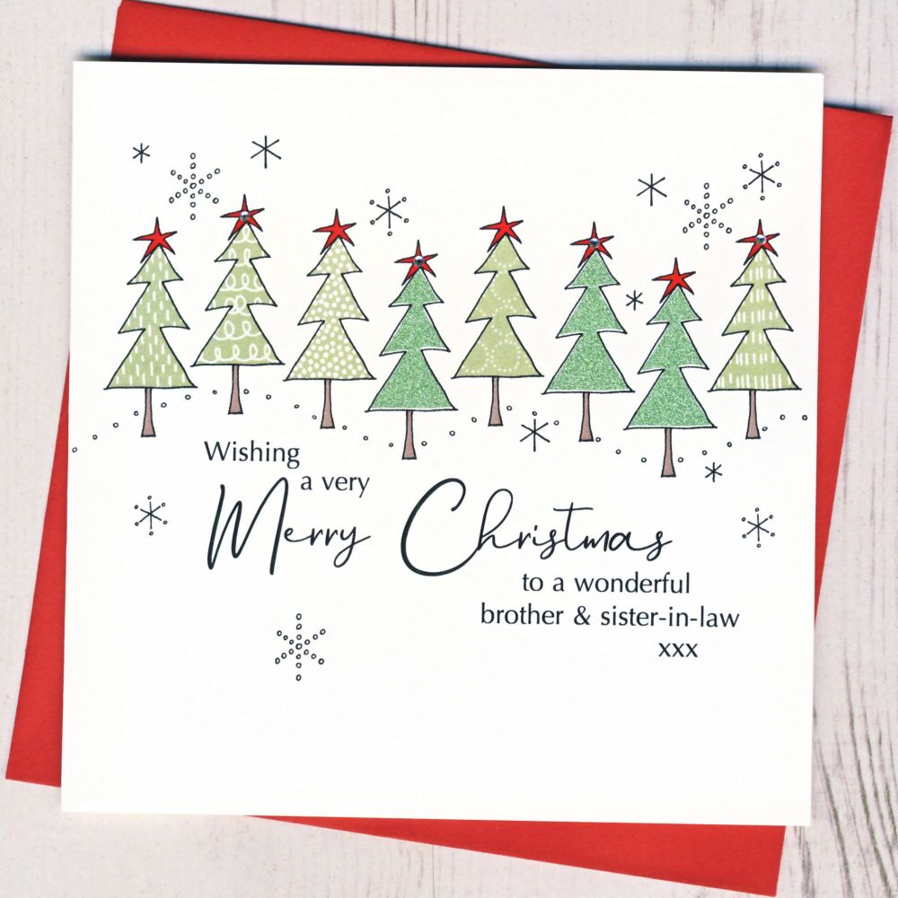 <!-- 007-->Brother & Sister-in-Law or Partner Christmas Card