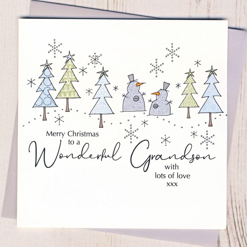 <!-- 001-->Grandson Christmas Card