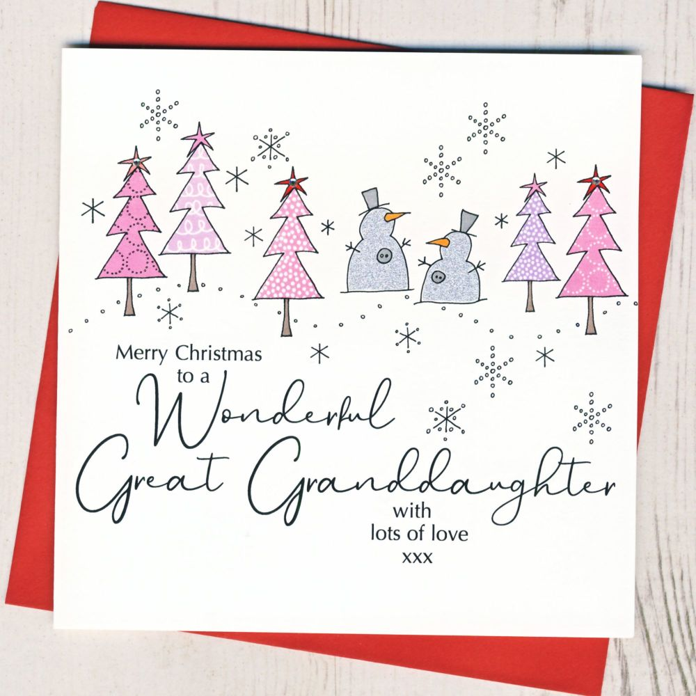 <!-- 001--> Great-Granddaughter Christmas Card