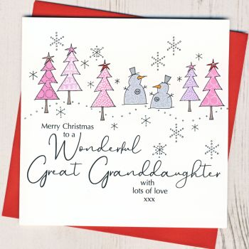 Great-Granddaughter Christmas Card