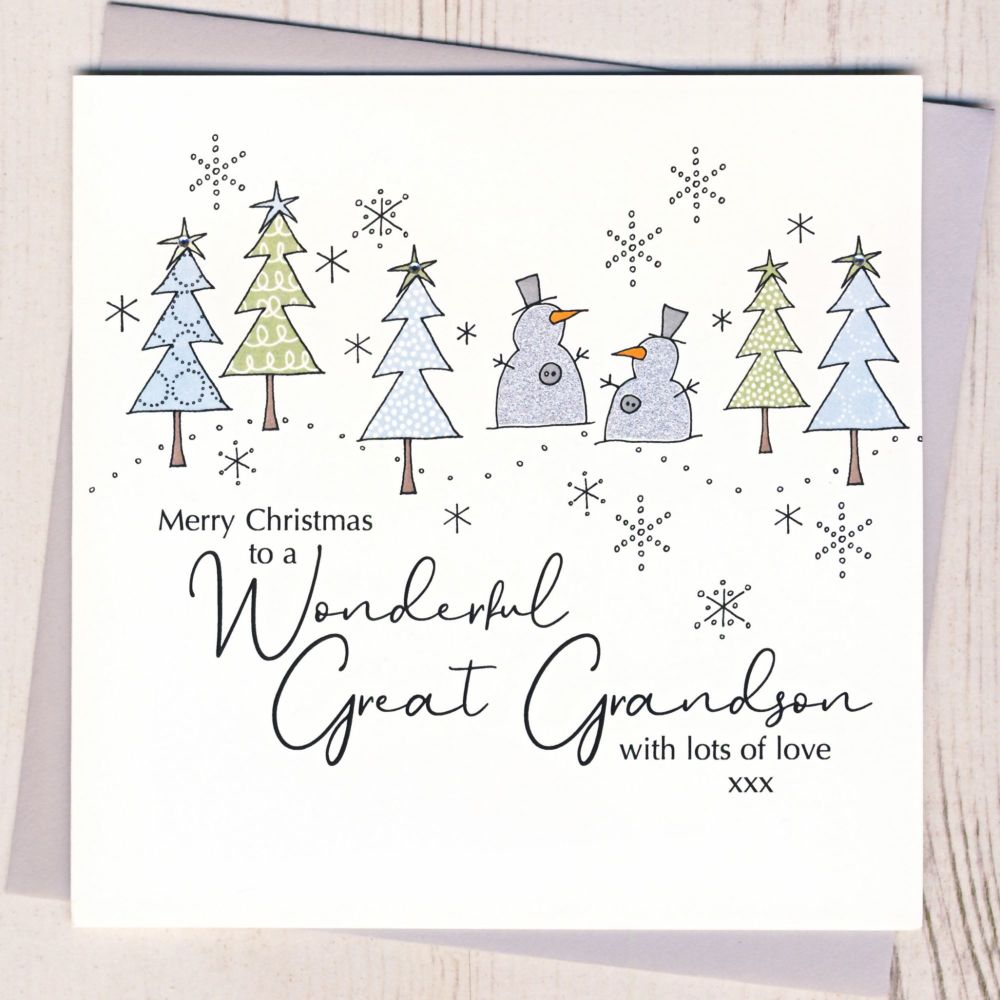 <!-- 003-->Great-Grandson Christmas Card