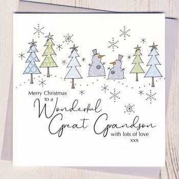 Great-Grandson Christmas Card