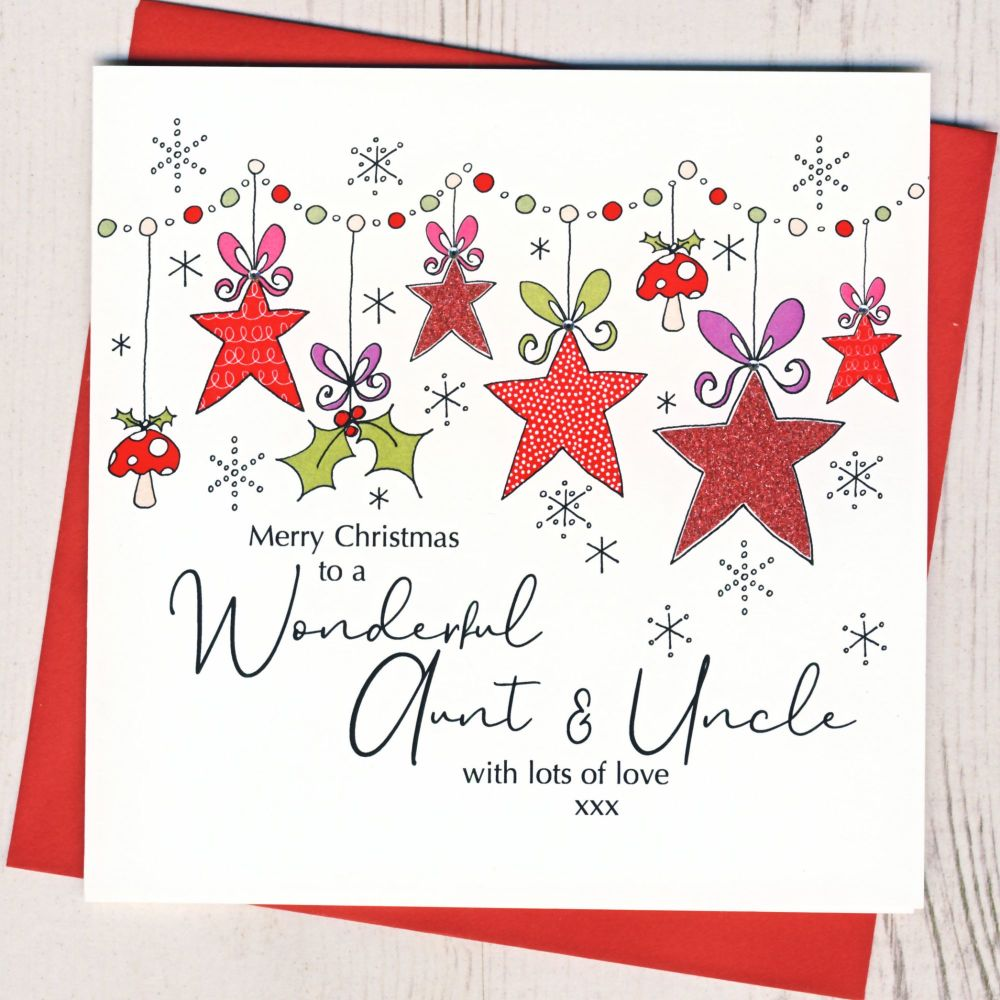 Auntie & Unncle Christmas Card