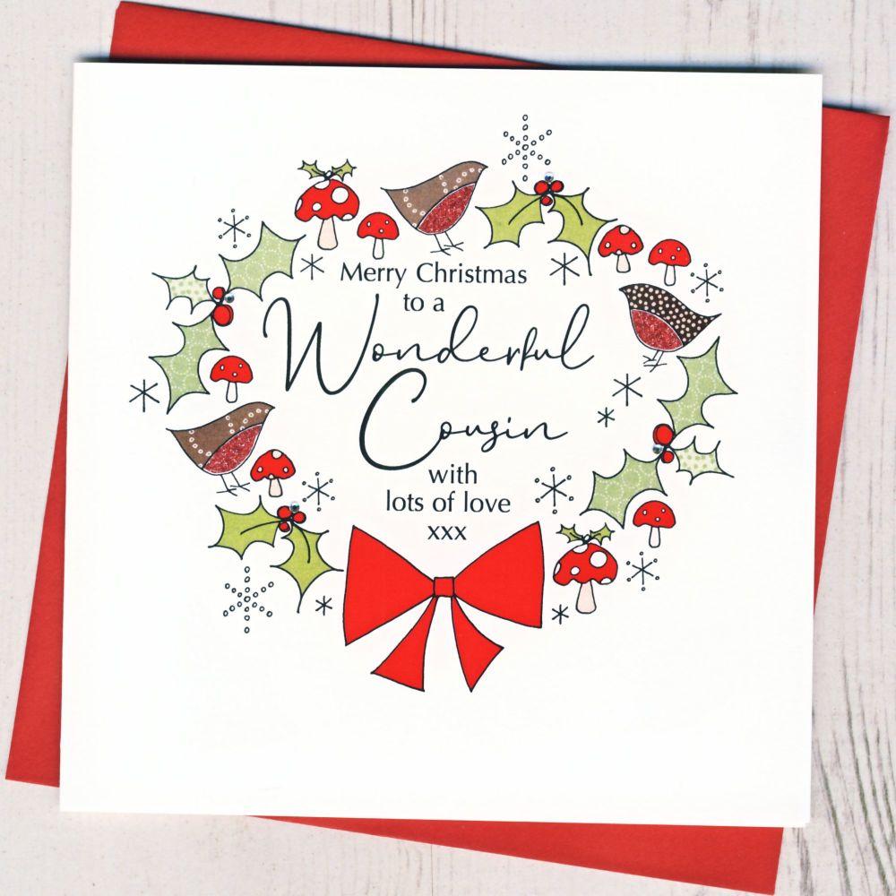 <!-- 001-->Cousin Christmas Card