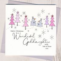 <!-- 001--> Goddaughter Christmas Card