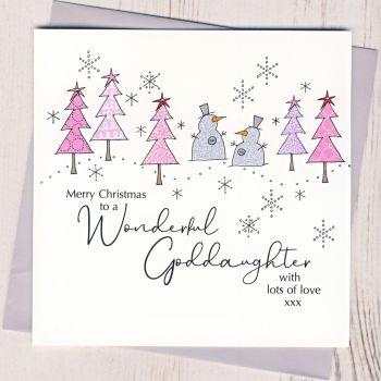 Goddaughter Christmas Card