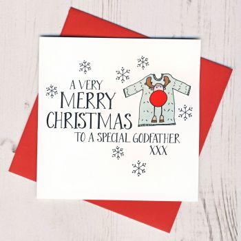 Wobbly Eyes Godfather Christmas Card