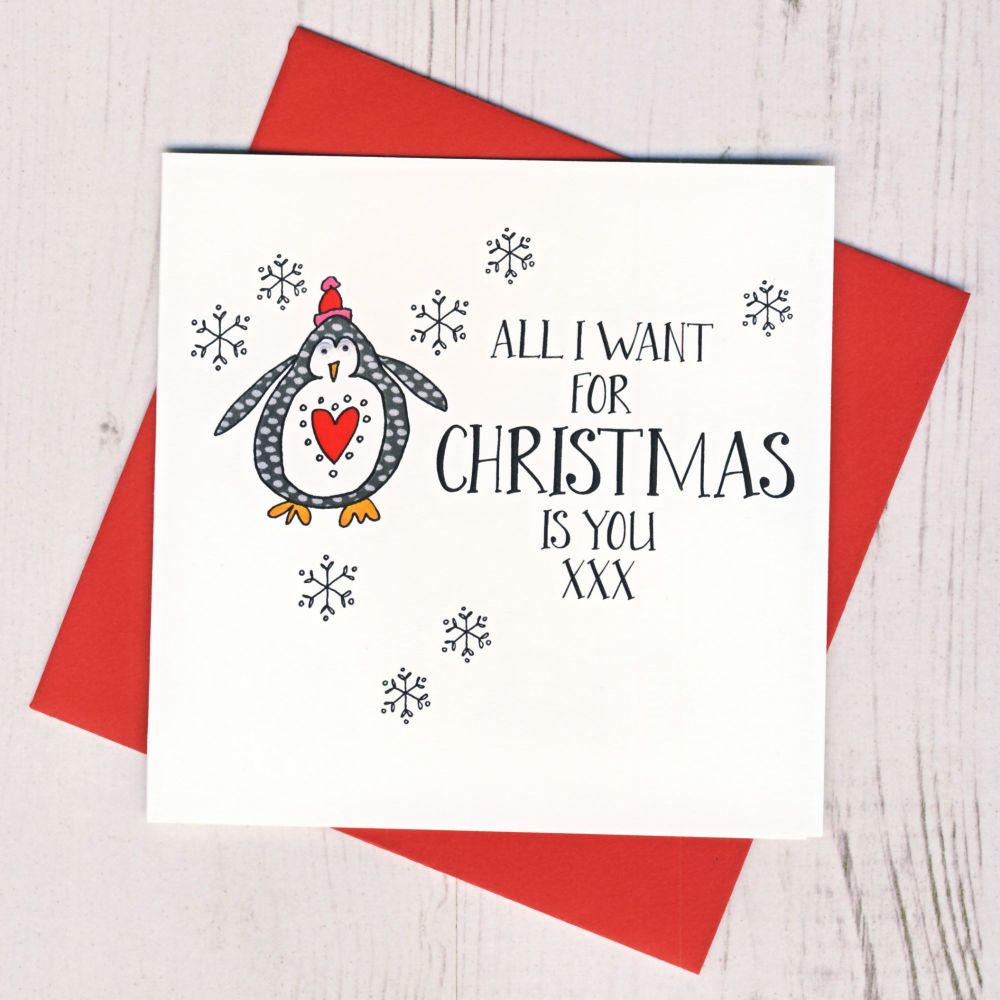 <!-- 002-->Wobbly Eyes All I Want For Christmas Is You Card
