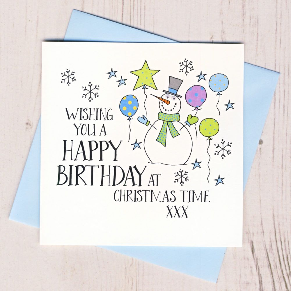 <!-- 002-->Wobbly Eyes Christmas Birthday Card