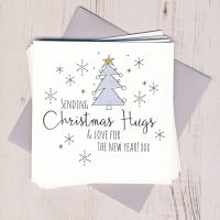 <!-- 001 -->Pack of Five Glittery Christmas Hugs Cards