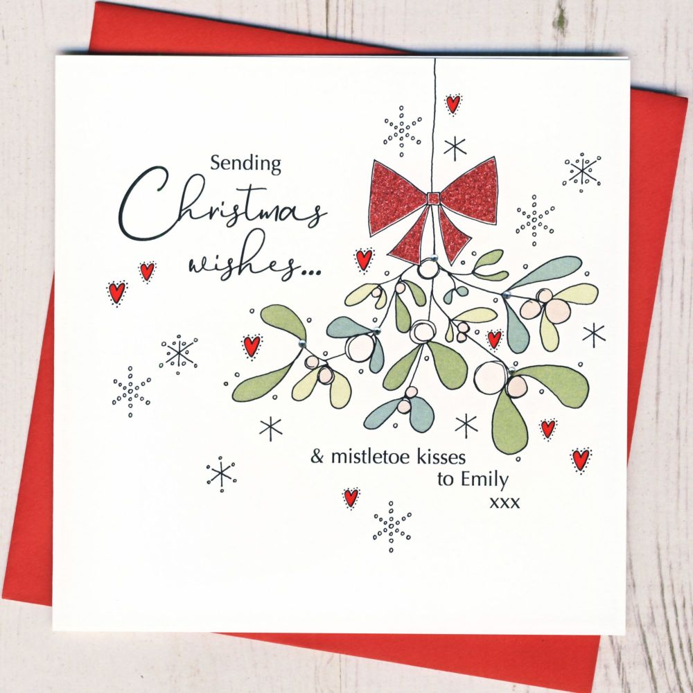 Personalised Christmas Kisses Card