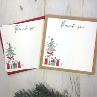 <!-- 001 -->Box of 12 Christmas Tree Thank You Notecards