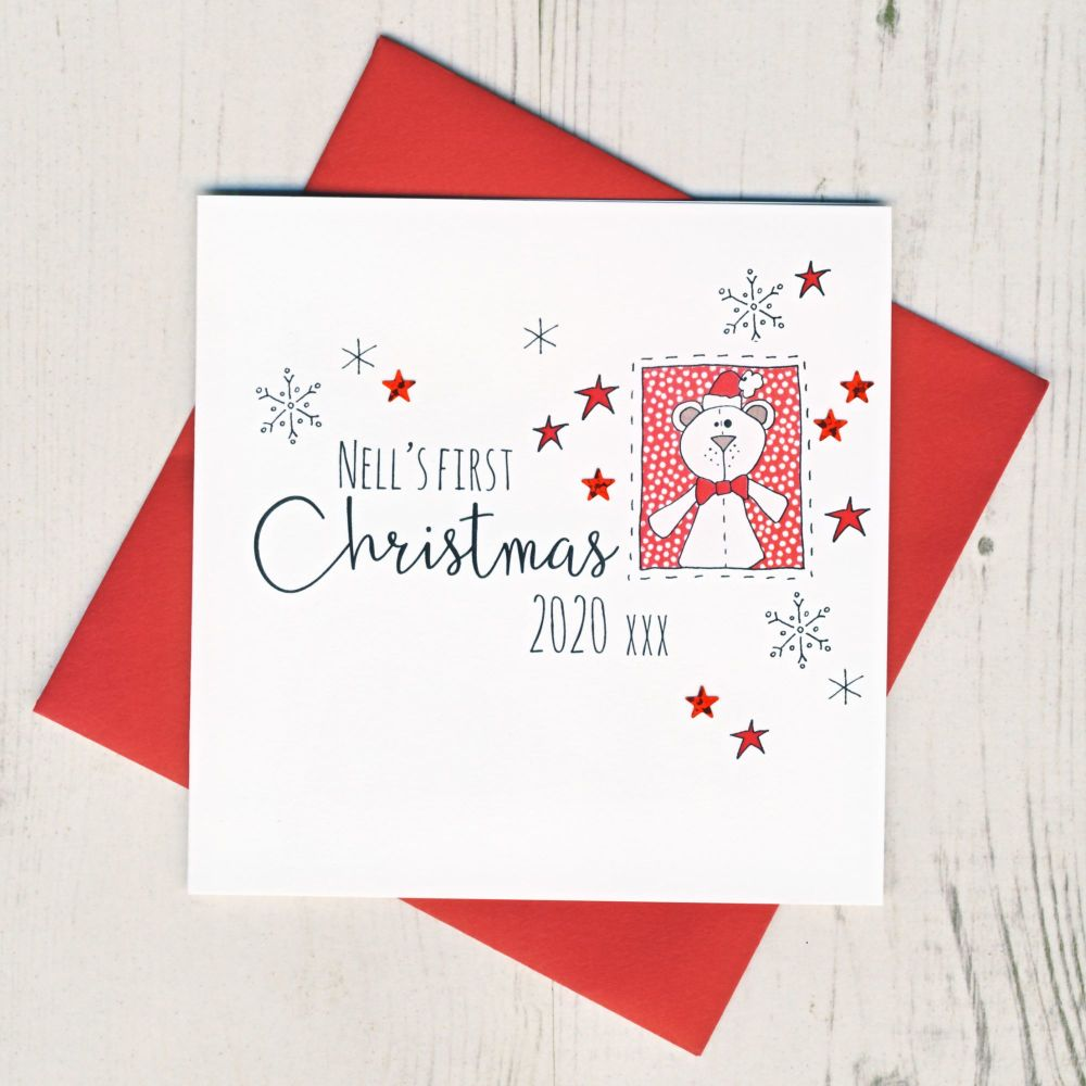 <!-- 002-->Personalised Baby's First Christmas
