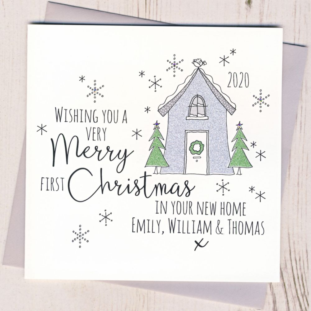 Personalised 1st Christmas In Your New Home Cards